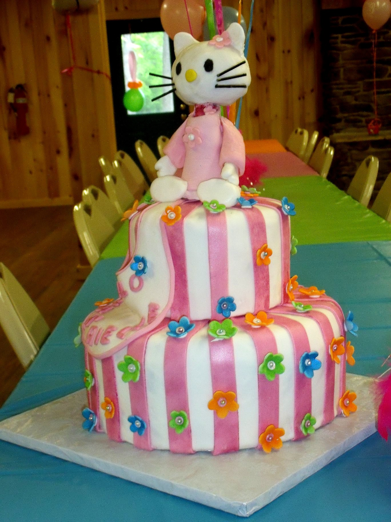 Hello Kitty Baby Shower Cake view 2