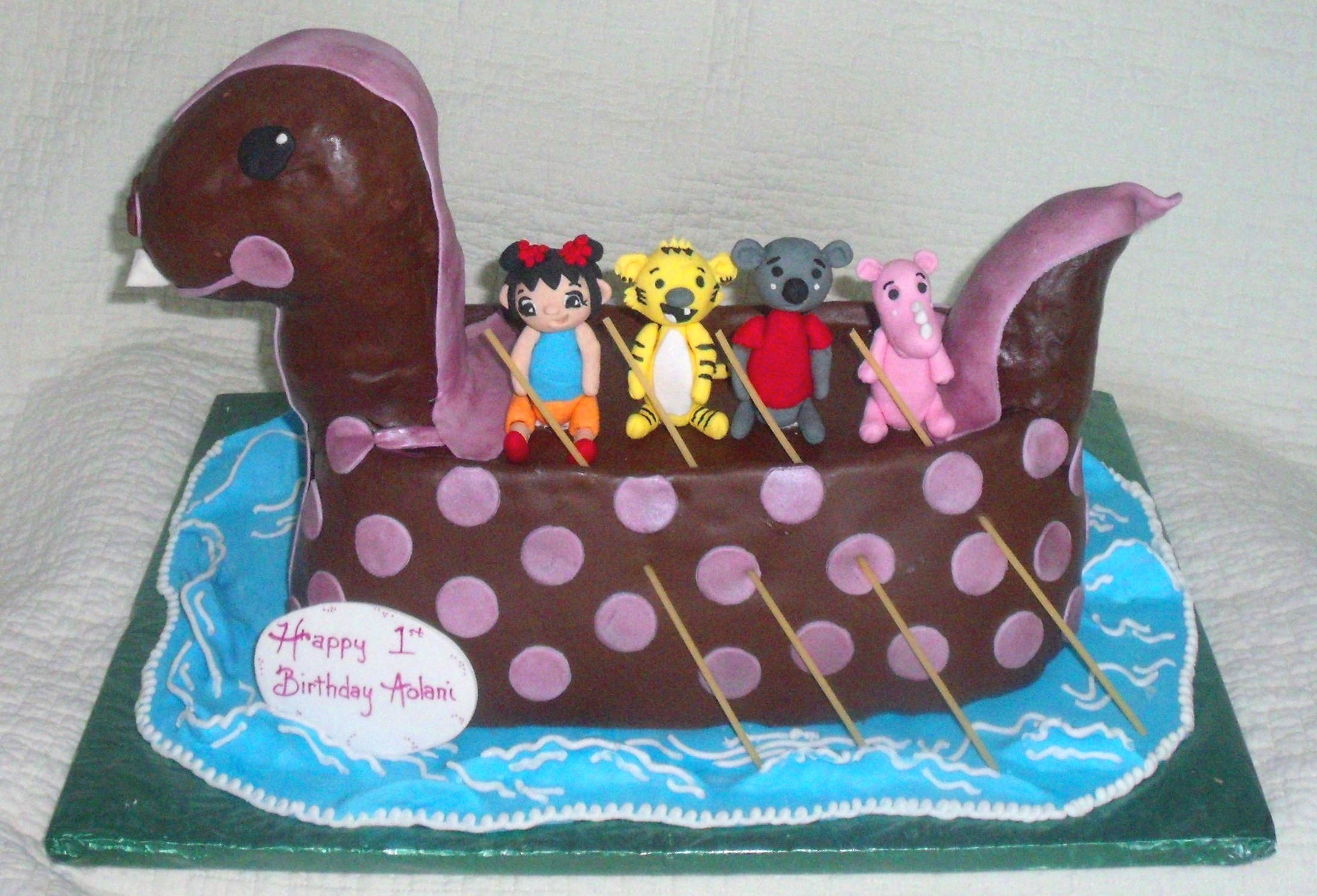 ni hao kai lan fondant children cake main view