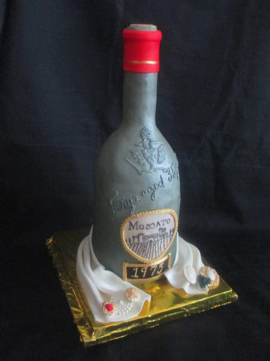 Wine Bottle Moscato Fondant Cake View 2 Full Size Slideshow