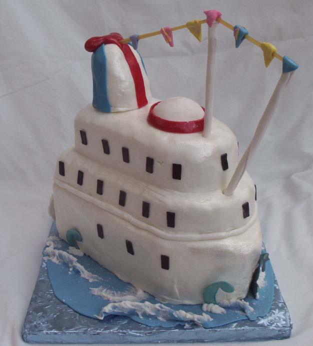Cruise Ship Cake - Cruise ship cake