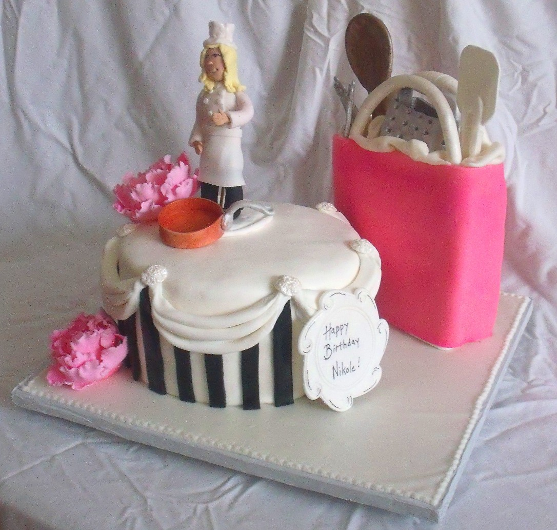 Chef Kitchen Cooking Theme Cake View 3