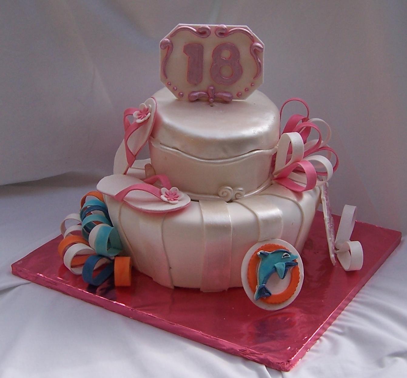 Miami Dolphins Cheerleader Birthday Cake For Samantha