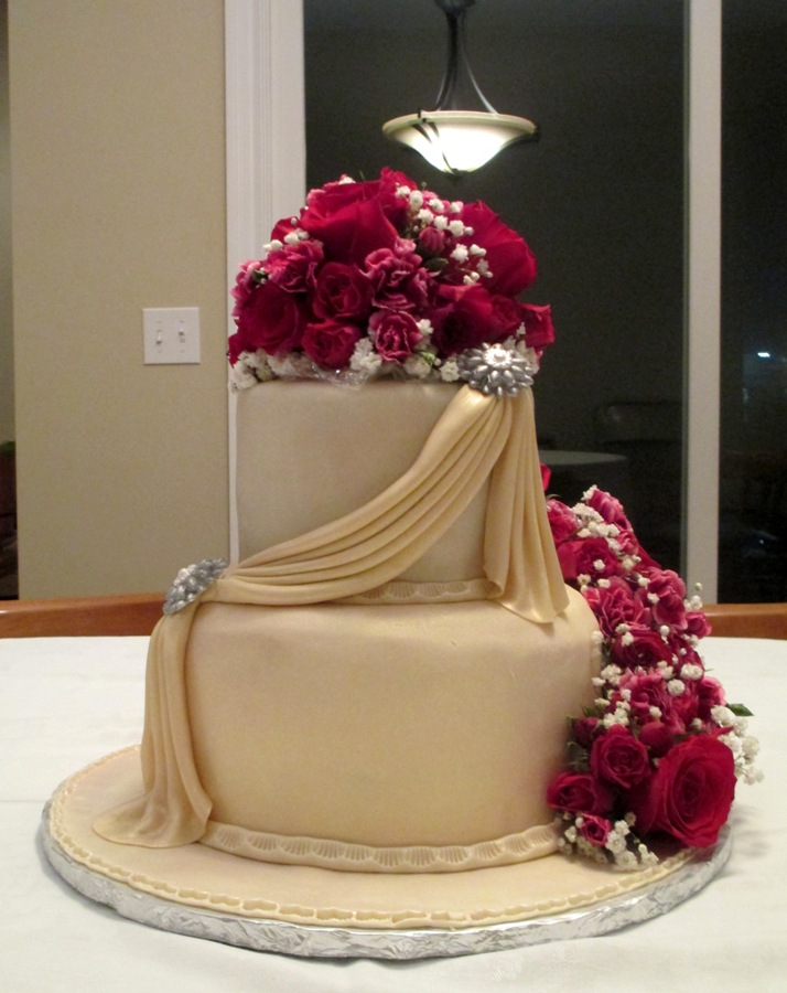 Wedding Cake Flowers Edible