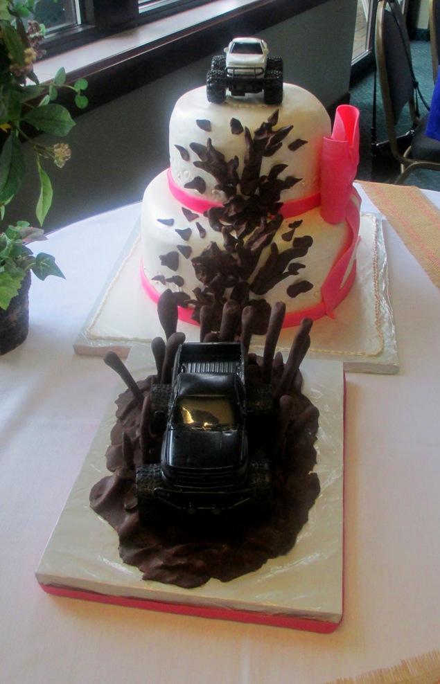 Truck Mudding Wedding Cake
