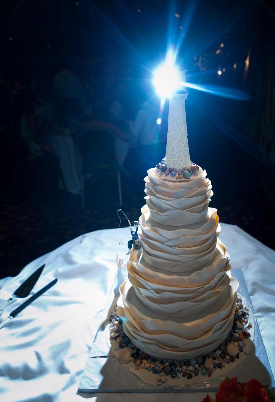 Mike Fisher Photography At 585 899 0686 Lighthouse Nautical Wedding Cake