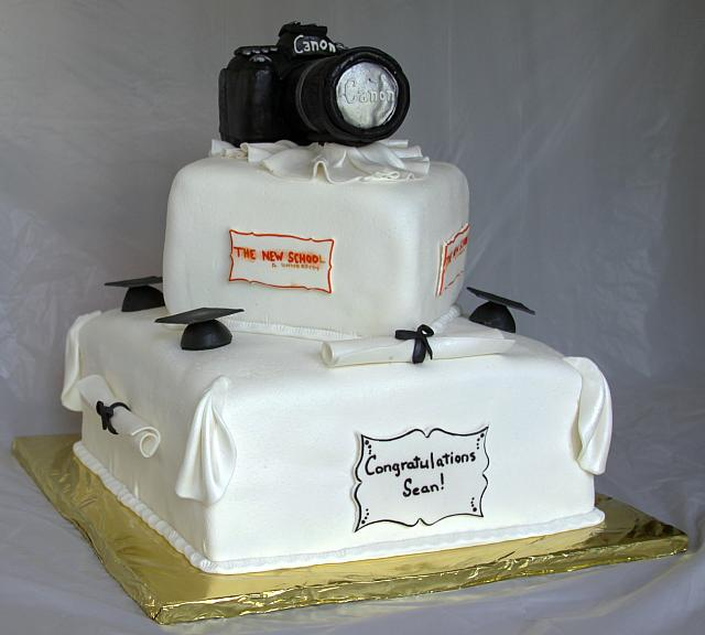 Graduation Cake With Photography Hobby View 3