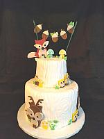 Forest Theme Baby Shower Cake