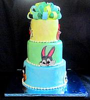 Looney Tunes Character Cake with Faces