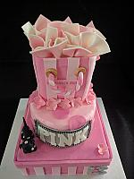 Glamour Girl Victoria Secret Cake with Rhinestone Dog