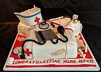 Nurse Graduation Cake for Alexis