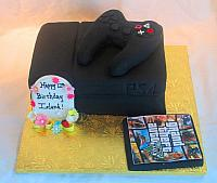 Playstation Cake with Grand Theft Auto
